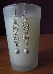 Silver Byzantine Drop Earrings jewellery making tutorials